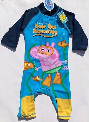 Boys Sunsuit with UV 40 protection and Peppa Pig George detail