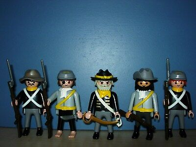 5 SÜDSTAATEN SOLDATEN CIVIL WAR 1861-1865 vs. INDIANER WESTERN TOP PLAYMOBIL 3