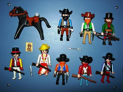 8 COWBOYS vs. SOLDATEN INDIANER MEXIKANER WESTERN TOP PLAYMOBIL 1