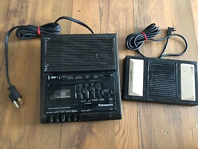 Panasonic RR-930 Micro-cassette with  Transcriber Record w/Foot Pedal Working
