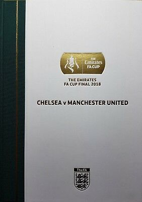 FA Cup Final 2018 Limited Edition PROGRAMME Chelsea Man Utd