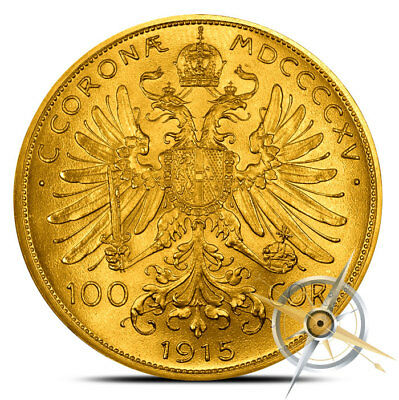Austria 100 Corona Gold Coin - 0.9802 Oz - Random Date (Our Choice) - AU/BU