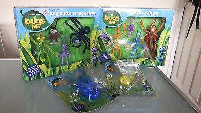A Bug's Life poseable miniatures x 10 Disney Pixar Mattel packaging included