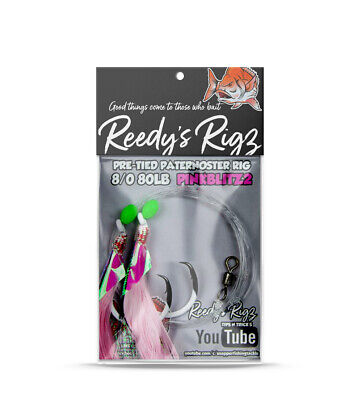 10 Snapper Rigs 5/0 Pink Flasher Rig W.A Winter Reds  Paternoster Rigz