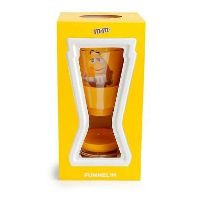 M&M's World Candy Yellow Funnel Dispenser New with Box