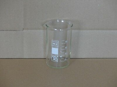 Laborglas Mess Becher Glas 100ml 0,1 Liter 0,1 Teilung