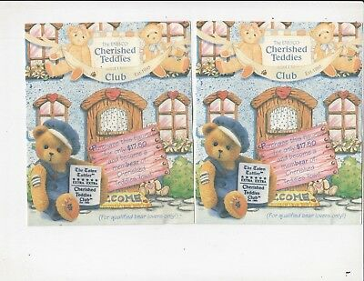 Cherished Teddies Club Membearship Club info 2 forms  paperwork  bear / fh