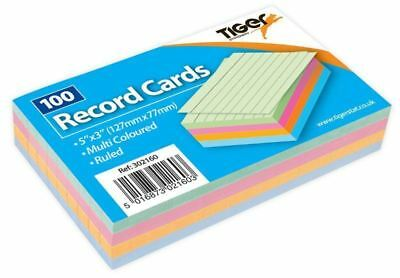 Revision Flash Index Prompt Report Record Cards Students College Office 5''x 3''