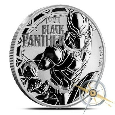 2018 Tuvalu 1 oz .9999 Silver $1 Marvel Series Black Panther Coin - Gem BU