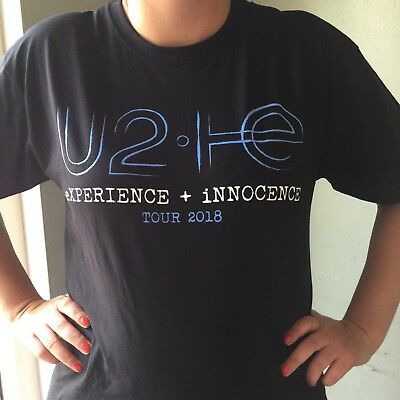 U2 innocent and experience back and front 2018 TOUR T SHIRT IRISH ROCK GROUP☘️☘️