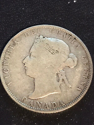 Canada 25 Cents 1872-H 25C