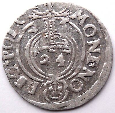 1625 Medieval Silver Coin Sigismund King Rare!
