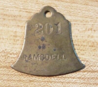 Antique RAMSDELL room 201 Key Fob Manistee Michigan