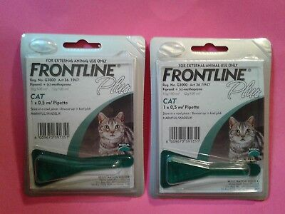 Frontline Plus For CATS, 8 weeks & Older , Two Doses, 2 Month Supply Fresh 6/20