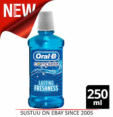 Oral B Lasting Freshness Complete Mouthwash 250ml(Pack of 6)│Arctic Mint flavour