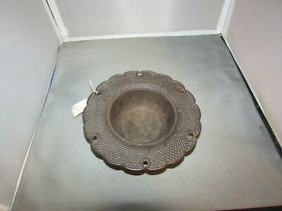 VTG Antique Victorian Eastlake Cast Iron Ash Tray 7""