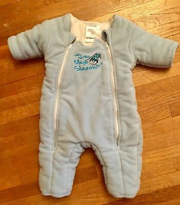 Baby Merlin's Magic Sleepsuit Blue Size 3-6 Months