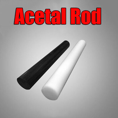 Black White Acetal Rod Engineering Plastic Round Bar Billet Spacer 5~15mm New
