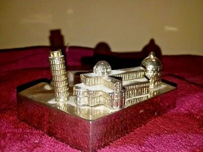 Metal Pisa Baptistry and Cathedral unused ashtray souvenir building replica