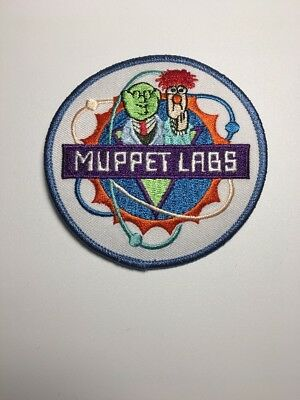 """The Muppets Jim Henson Dr Bunsen & Beaker Muppet Labs Vintage 3.5"""" Round Patch"""