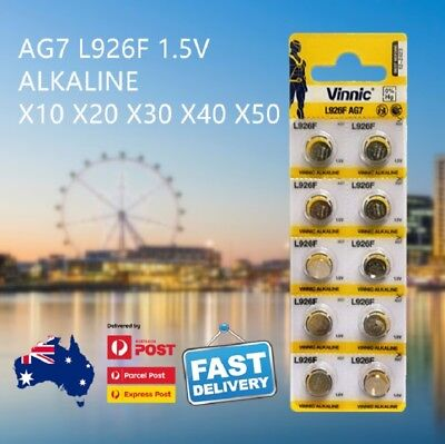 AG7 L926F CR927 SR57 399 V543 Button Coin Cell Alkaline Battery AU Free Shipping