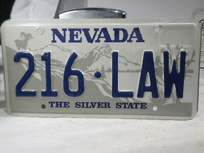 1980s 1990s Nevada License Plate 216 LAW