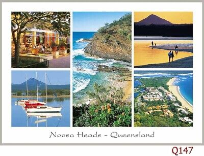10 Postcards of Sunshine Coast, Noosa Heads, Moloolabah, Caloundra, Montville