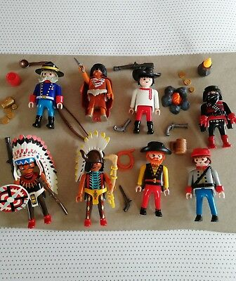 8 INDIANER vs. SOLDATEN COWBOYS MEXIKANER WESTERN TOP PLAYMOBIL 3
