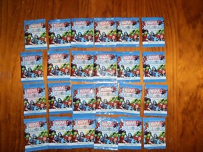 MARVEL HEROS COLLECTABLE DISCS WOOLWORTHS ISSUED UNOPENED x 24