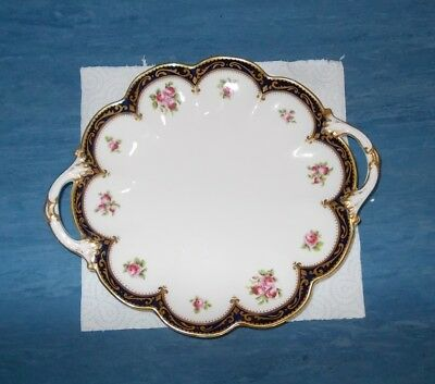 George Jones Fluted Sides Cake Plate (Twin Handled) Crescent China
