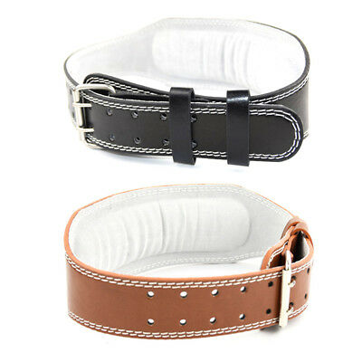 Weight Lifting PU Leather Belt Back Support Strap Gym Power Training Fitness