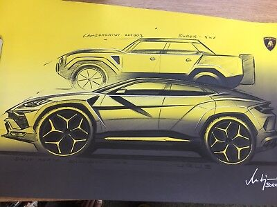 Lamborghini Urus SUV Limited Edition Poster from Uk launch Party