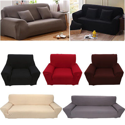 1 2 3 4 Seater Stretch Elastic Chair Sofa Loveseat Cover Slipcover Furniture