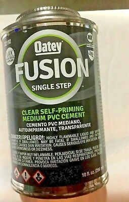 Oatey  Self Priming PVC  Cement  Clear Fusion Single step  10 Oz