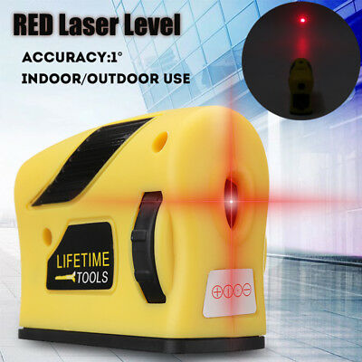 360° 2 Line 1 Point Laser Self Leveling Vertical Horizontal Level Measure Red
