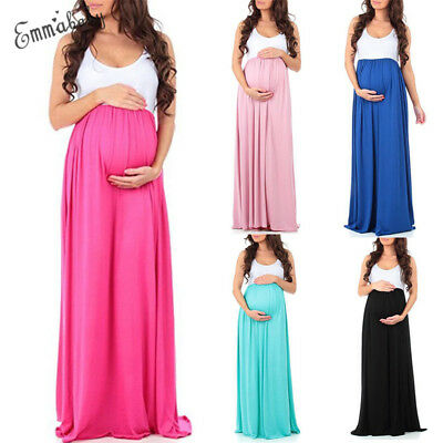 Maternity Maxi Gown Pregnant Women Chiffon Dress Photography Photo Props Clothes