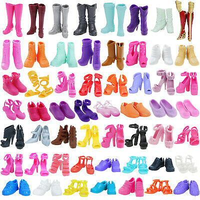 Good Flat High Heels Foot Shoes Sandals Boots Winter Accessories For Barbie Doll