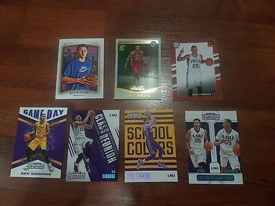 Ben Simmons NBA basketball cards lot + Ball, Kuzma, Mitchell, Tatum rookie cards