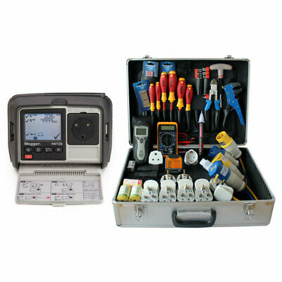 Megger PAT120 Hand Held Battery Operated Portable Appliance PAT Tester & PPK202