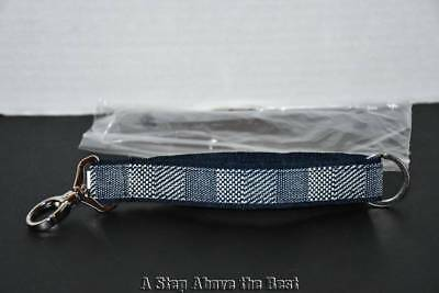 Thirty One Hang it up Key Fob in Woven Stripe - NEW
