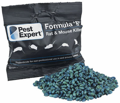 Pest Expert® Formula B Rat Killer Poison Max Strength Bait 1.5kg (10 x 150g)
