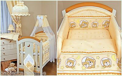 6 pcs Nursery Set/Bumper/Canopy/Covers/Canopy holder to fit  BABY COT or COTBED