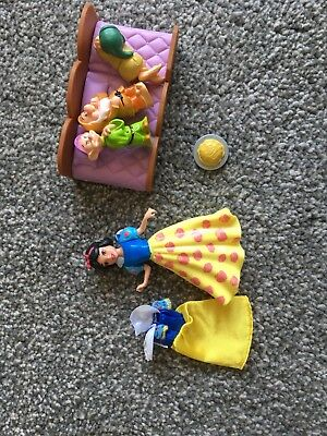 Snow White And The Seven Dwarves Polly Pocket Figures new style not vintage
