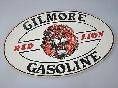 Gilmore Red Lion Gasoline Decal, Sticker, Large, 13 x 8""