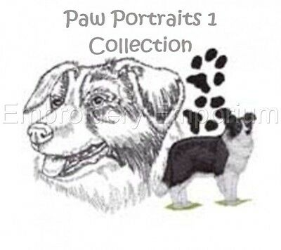 Paw Portraits 1 Collection - Machine Embroidery Designs On Cd