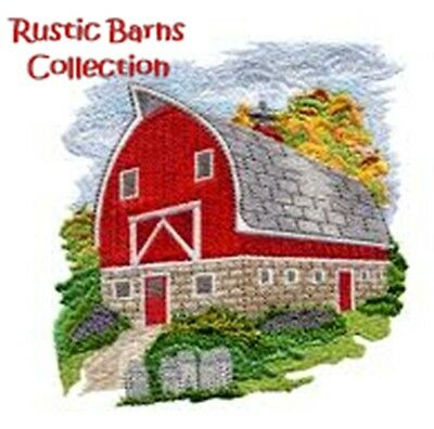 Rustic Barns Collection - Machine Embroidery Designs On Cd