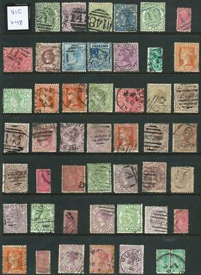 VICTORIA - Bulk Used Selection (Full Sheet) x 48 Stamps [5530]