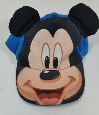 Walt Disney World Parks Toddler Mickey Mouse Hat Baseball Cap with Ears Blue A1