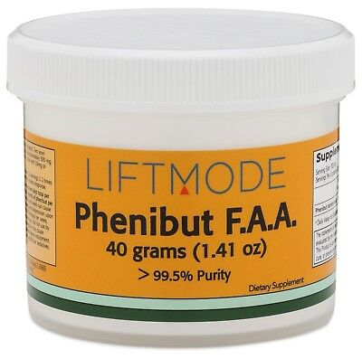 Liftmode Pure Phenibut FAA 40 grams Reduce Anxiety Mood Boost - Fast Shipping