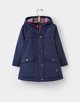 Joules Girls Parker Parka-Style Coat Size 1 6 Years in French Navy